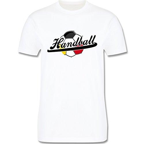 Handball - Handball Deutschland - Herren Premium T-Shirt Weiß