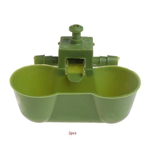 Ogquaton 2 STÜCKE Vogel Auto Quick Waterers Dual Ball Trinkbecher Wasserspender Für Geflügel Premium Qualität -