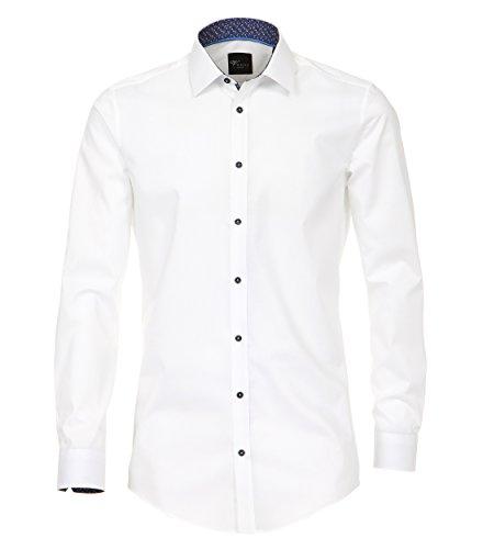 Venti - Body Fit - Herren Hemd mit Kent Kragen in Blau oder Weiß (172816600) Weiß (000)