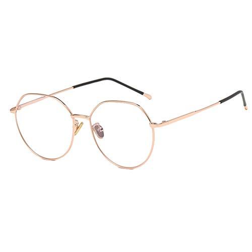 Hibote Männer Frauen Rund Brille - Klare Linse Brillengestell - Mode Brillen Eyewear - 18082309