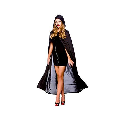 tsfeier Cosplay mit Kapuze Samtmantel Lange Kapuze Halloween-Kostüme für Erwachsene, Kinder ()