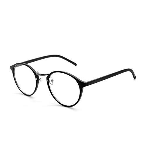 YMTP Optische Brillen Rahmen Brillen Myopie Rahmen Frauen Klar Transparente Brillen Damen Herren Blumen Rahmen, S Schwarz