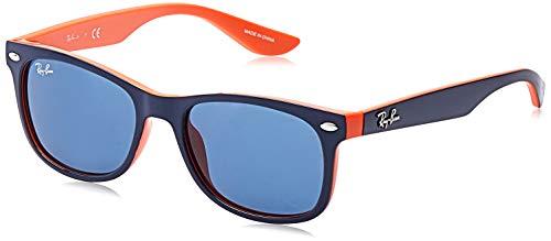 Ray Ban Unisex Sonnenbrille New Wayfarer Junior Mehrfarbig (Gestell Orange, Gläser: Blau Klassisch 178/80)), Medium (Herstellergröße: 48)