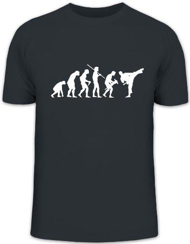 Grey Bekleidung Für Erwachsene Tee (Shirtstreet24, EVOLUTION JUDO, Kampfsport Karate Kung Fu Funshirt, Größe: L, dark grey)