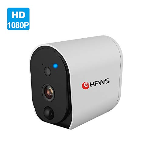 HFWS Security Cameras Outdoor Wired,5MP POE HD Camera,Night Vision,Motion Detection,Audio Support,IP67 Weatherproof