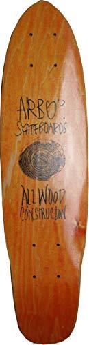 Arbor Skateboard Cruiser Deck Woody Orange 23.5 x 6 inch - Oldschool Skateboarddeck (Arbor Deck Pintail Longboard)