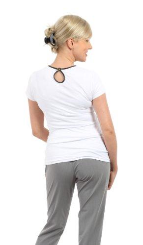 Be! Mama StillShirt, Stilltop, Schwangerschaftsshirt- FARBAUSWAHL, Modell: ZOE - lang- oder kurzärmlig! Weiss/Kurzarm
