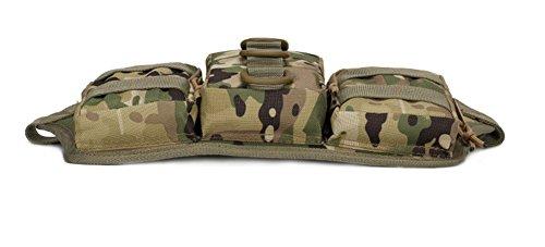 Spohife Tactical Hüfttasche Bauchtasche Militär Gürteltasche Reißverschluss für Outdoor Sport Trekking Wandern Running CP Camo