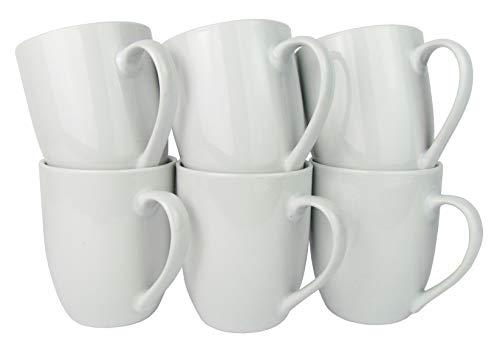 Retsch Arzberg Kaffeebecher/Kaffeetasse Luna, Porzellan, 300ml, weiß (6 Stück im Set)