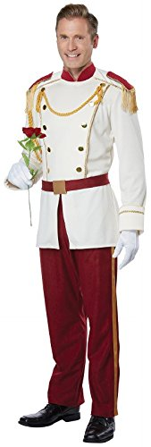 Kostüm Royal Fancy Prince Dress - Mens Royal Storybook Prince Fancy dress costume Large