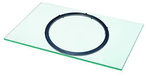 """VCM TV Drehplatte Fernseh Drehteller Drehteller Drehbühne Glas drehbar Klarglas 40 x 110 x 2 cm \""""Swing\"""""""