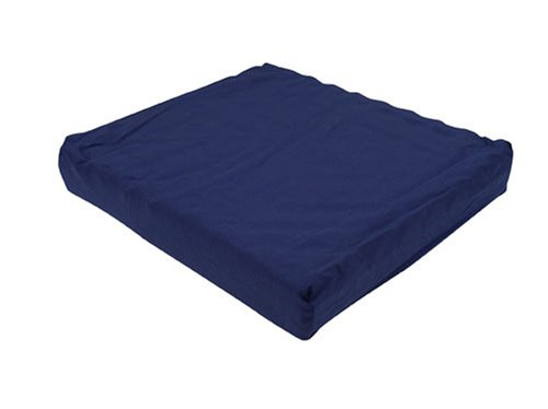 DMI Convoluted Foam Seat Cushion for Your Wheelchair, Car or Chair, with Cover, Navy, 3 Inch x 16 Inch x 18 Inch -
