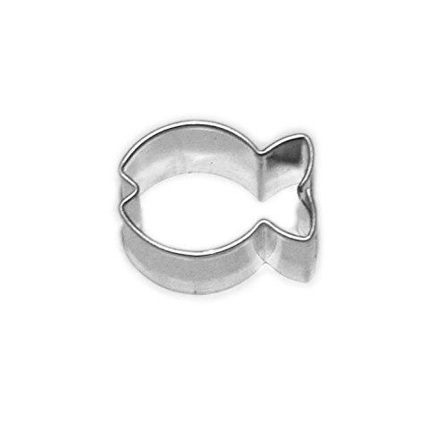 Markenlos Fisch Mini 17 mm Ausstecher, Ausstechform aus Edelstahl