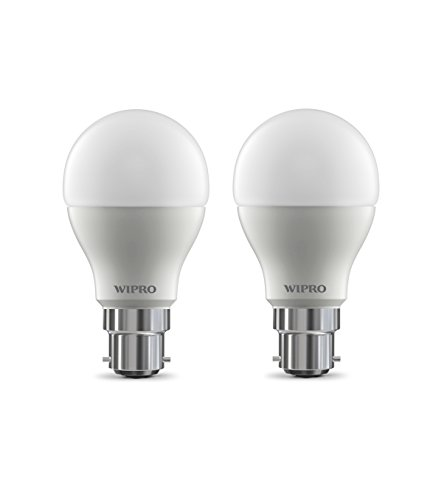 Wipro Garnet B22 9-Watt LED Bulb (Pack of 2, Cool Day Light)