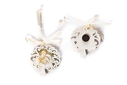 Irpot - 12 decorazioni magneti alberello in resina bomboniere prima comunione (sacra famiglia 50310)