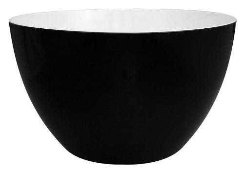 Zak Designs 0535-5153 Saladier Duo Noir/Blanc 18 cm Mélamine