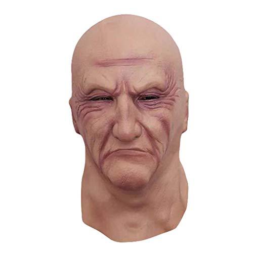 SummarLee Halloween Maske Scary Black Society Boss