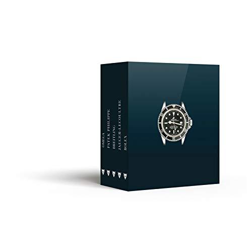 Montres d'exception : Coffret 5 volumes : Rolex ; Omega ; Patek Philippe ;...
