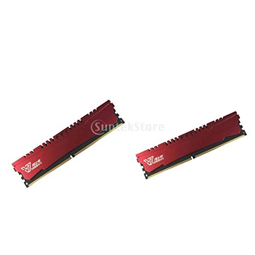 P Prettyia 2pcs 2GB 1600Mhz Arbeitsspeicher RAM Speicher Computer Zubehör mit 8X PCB Board