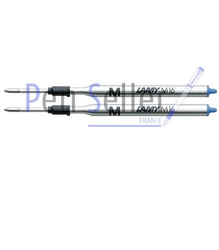 Lamy: Großraum-Kugelschreibermine M16: Farbe: blau, Strichbreite: M, 2er-Set.