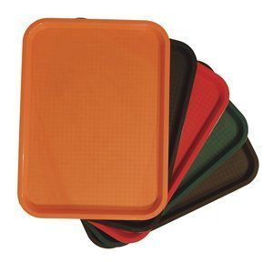 Fast Food Tray - Rectangle,Brown 14\