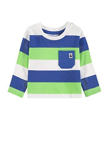 TOM TAILOR Kids Baby-Jungen T-Shirt Striped Langarmshirt, Mehrfarbig (Allover 0003), Herstellergröße: 68 -
