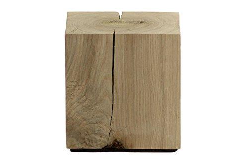 Holzwürfel Hocker Eiche massiv in den Maßen ca. 15 x 15 x 15 cm -