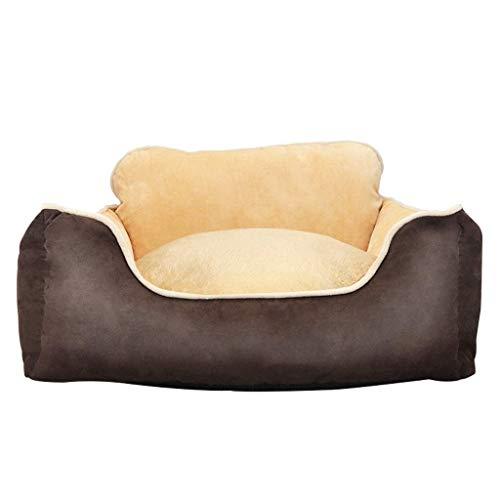 MMAWN Pet Products Beheiztes Haustierbett Deluxe Hundebett (Braun) (Mehrere Größen) (Size : 55 * 50 * 20cm) - 20 Cm Boden-fan