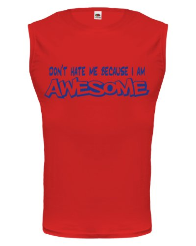buXsbaum® Tank Top Dont hate me because Im awesome Red-Royal