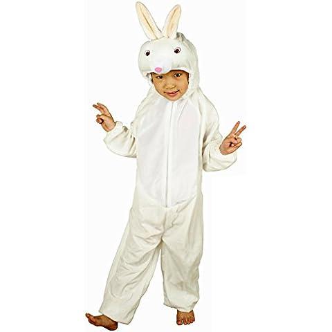 Niños Conejito Blanco Disfraz de conejo de 3-5 años (110 CM)