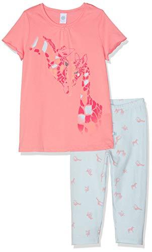 Sanetta Mädchen Pyjama Short Zweiteiliger Schlafanzug, Rot (Coral Light 3937), 116