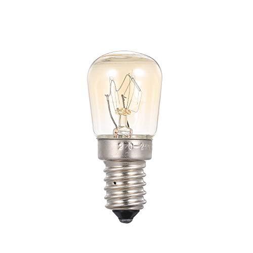 Festnight AC110-120V 25 Watt Wolfram Glühbirne Glühlampe E14 Sockel Halter für Ofen Brotbackautomat Kühlschrank Kühler Tragbare Mini Größe -