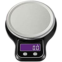 Befaith 3KG / 0.1g Tres balanzas de cocina digitales de precisión LCD balanzas electrónicas de alimentos que cocinan dieta Banco de pesaje negro