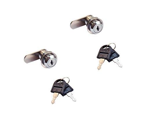 2 Stück GedoTec® Möbelschloß Zylinder-Möbelschloss Hebelschloss SET für Briefkasten & Möbel   Stahl verchromt poliert   Schließweg: 90°   Markenqualität für Ihren Wohnbereich