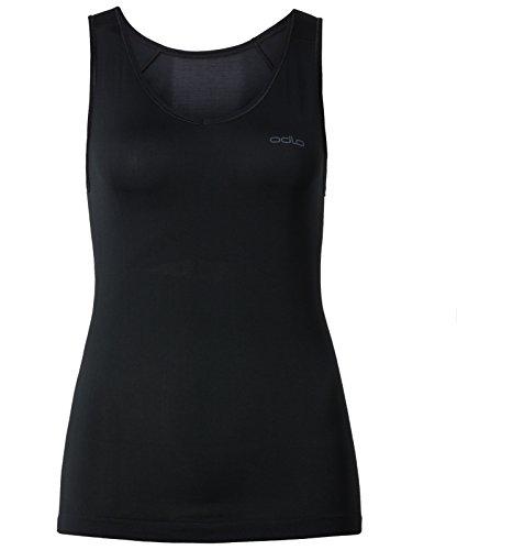 Odlo Damen Unterhemd Singlet V Neck Evolution X-Light, black, M, 182051-15000