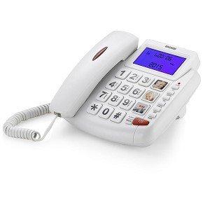 Brondi Bravo 90 LCD Telefono Fisso, Bianco