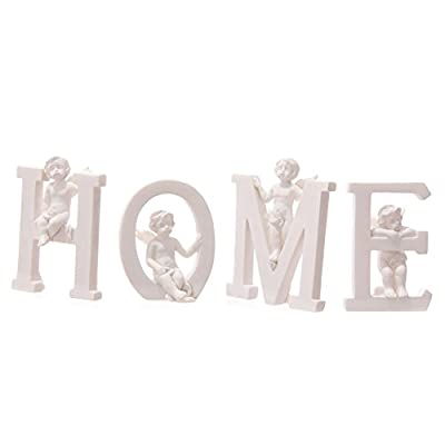 Set of Angel Cherub HOME Letters Ornaments Figures Valentines Mothers Day Gift