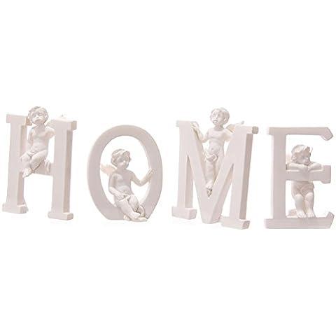 Bianco Cherubino H O M E Lettere–Set di 4lettere