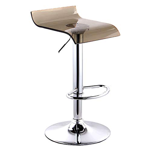 WSR Sitz Stuhl-Bar Stuhl Platz Acryl Stuhl Oberfläche Bar Stuhl Einfache Aufzug Bar Stuhl Bar Haushalt Hoher Hocker Rezeption Stuhl Basis 38.5Cm - Schwamm + Kunstleder/Massivholz Stuhl Oberfläche -