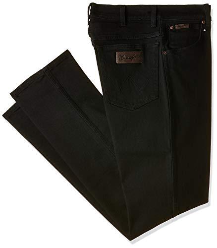 Wrangler Herren Jeanshose Texas Stretch W12109004, Schwarz (Schwarz Overdye 004), Gr. 32/34 -