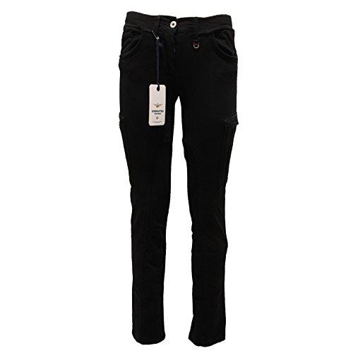 1899p pantalone tasconi nero aeronautica militare donna pants women [m]