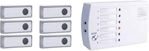 m-e modern-electronics FRS-106.1 Funkklingel Funk-Ruf-System - 1,5 V Dc Lithium-batterien