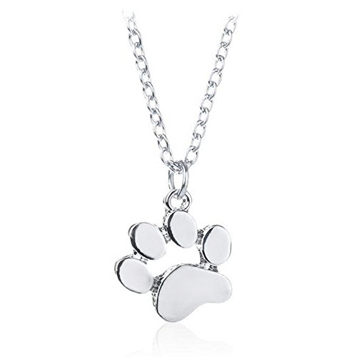 Lovinda Girl Frauen Silber überzogene Halskette Anhänger Tier Katze Klaue Diamant Zirkon Halskette Anhänger Schlüsselbein Kette Günstige Schmuck für Freundin Frauen Dame Geburtstagsgeschenk