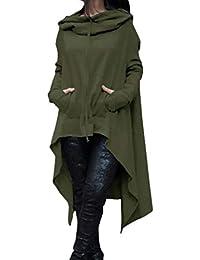 52c70c5f9475 Lvguang Sweat-Shirt à Capuche Femme Manche Longue Casual Hoodie Pullover  Robe à Capuche Tunique