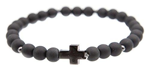 icon-marca-uomo-cross-breed-croce-fascino-braccialetto-elastico-base-metal-colore-black-cod-b1164-br