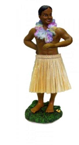 El-hombre-Hula-hawaiano-mueca-Leilani-Beige
