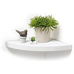 Modul'Home 6RAN795BC Etagère Flottante Panneau/MDF Blanc 25 x 25 x 3,4 cm