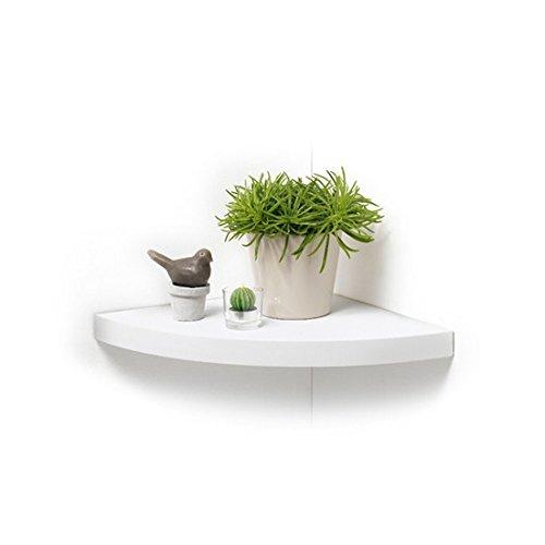 Modul'home - mensola a sospensione, pannello mdf, pannello mdf, bianco, 25 x 25 x 3,4 cm