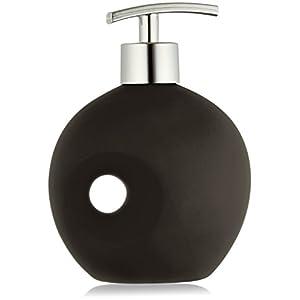 Wenko Seifenspender Keramik in schwarz, 11.5 x 6.5 x 16 cm