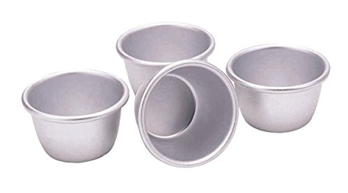 "KitchenCraft Anodised Aluminium Mini Pudding Moulds, 7.5 cm (3"") (Set of 4)"